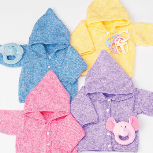 Baby Hoodie Knitting Pattern Favecrafts