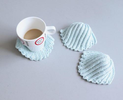 Seashell Coasters Crochet Pattern Allfreecrochet