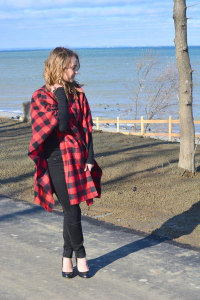 No Sew DIY Plaid Cape