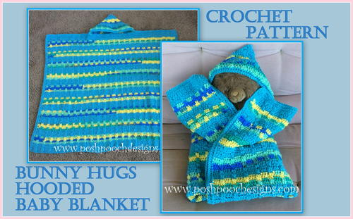 Bunny Hugs Hooded Baby Blanket