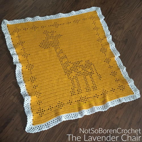 Filet Giraffe Blanket