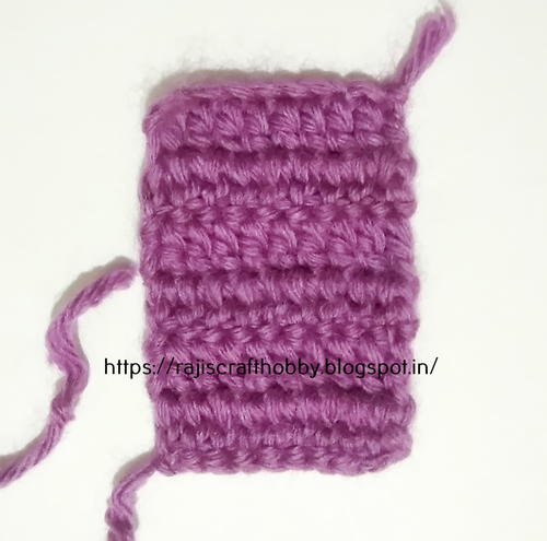 How To Double Crochet Straight Edges