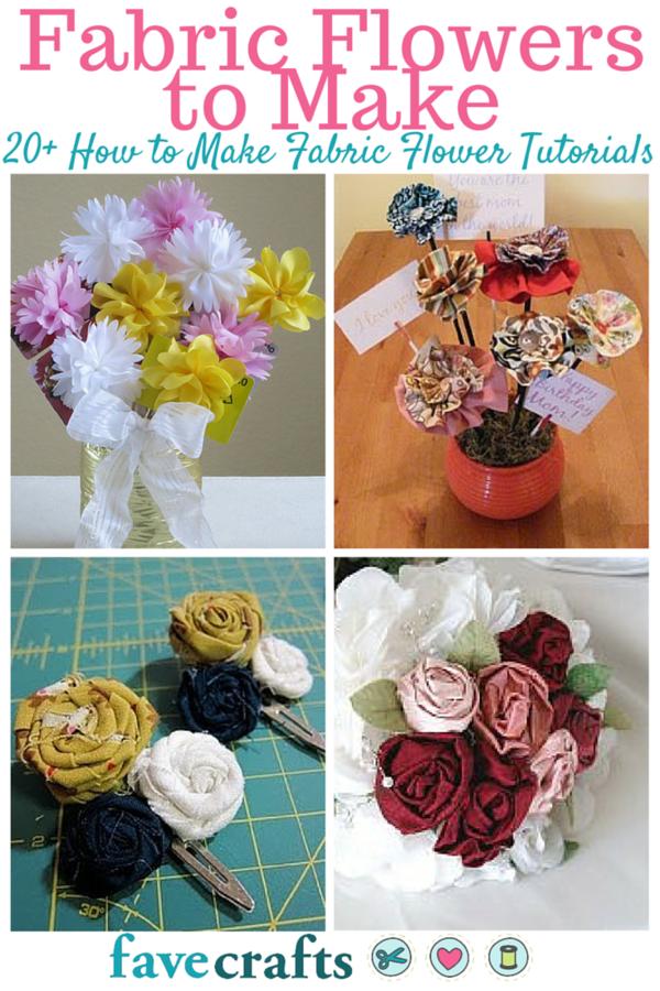 22 Fabric Flowers to Make   FaveCrafts.com