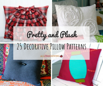 Pretty And Plush 40 Decorative Pillow Patterns AllFreeSewing Custom Pillow Patterns