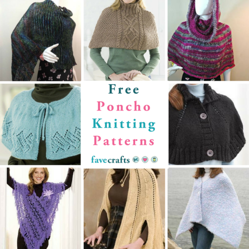 16 Free Poncho Knitting Patterns Favecrafts