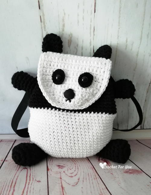 Crochet Panda Backpack Allfreecrochet