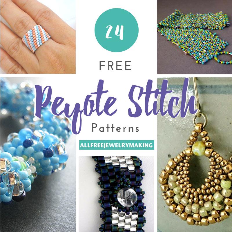 24 Free Peyote Stitch Patterns Allfreejewelrymaking