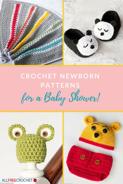 Crochet Newborn Patterns for a Baby Shower