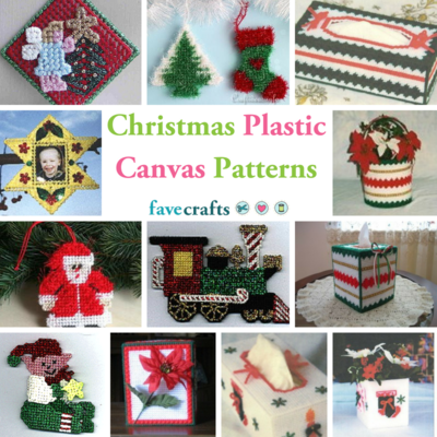 christmas plastic canvas patterns - Large Plastic Christmas Decorations
