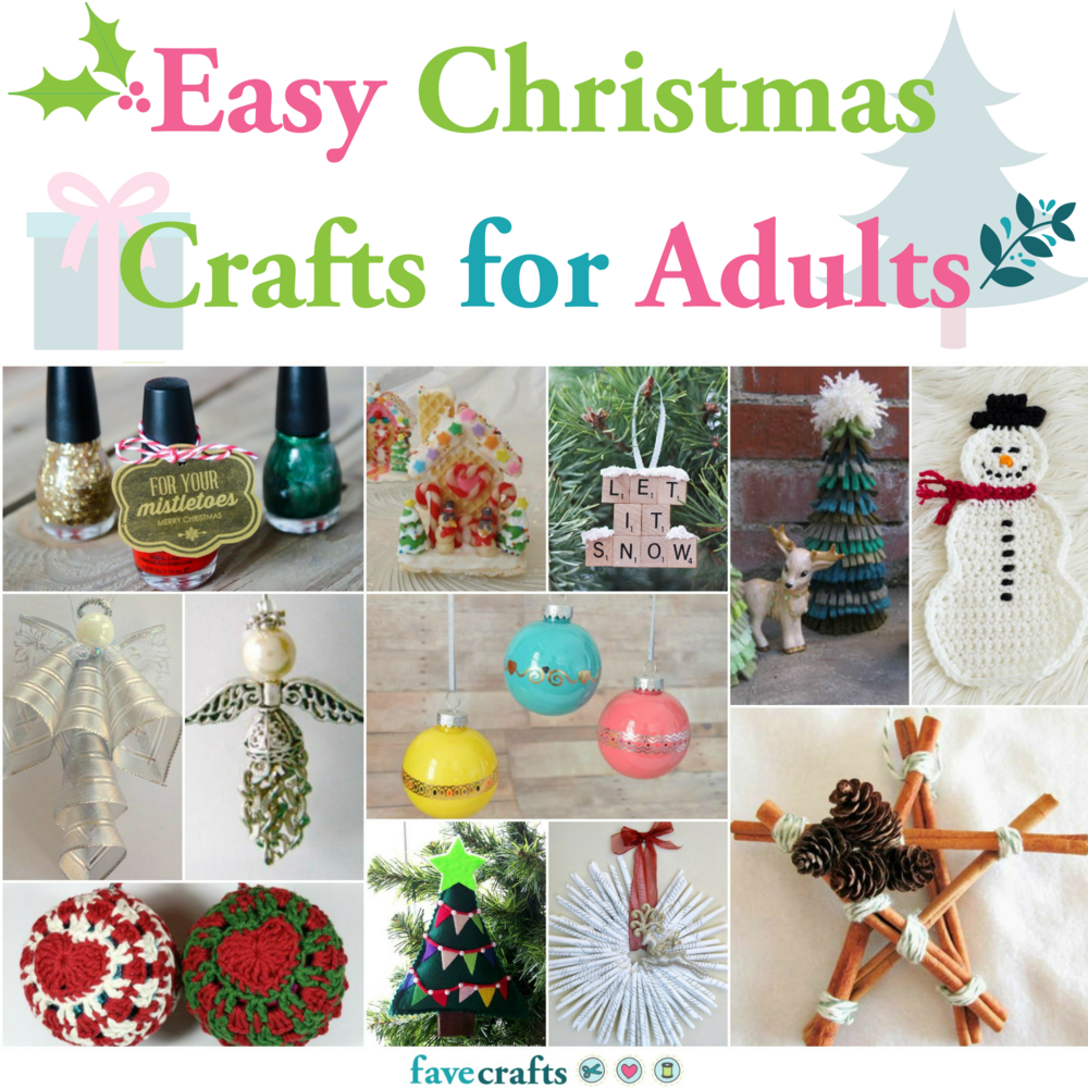 123 Easy Christmas Crafts for Adults | FaveCrafts.com