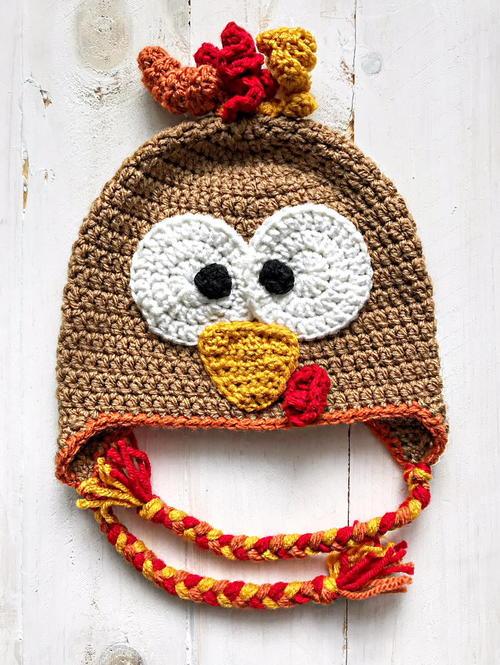 Happy Gobbler Turkey Hat | AllFreeCrochet.com