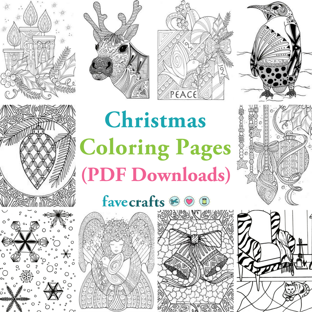 18 Christmas Coloring Pages (PDF Downloads) | FaveCrafts.com