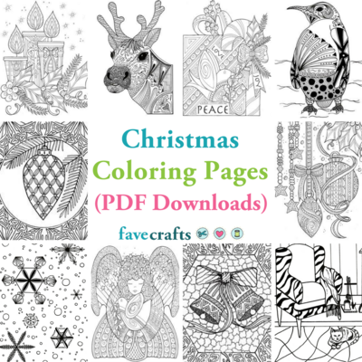 9 Christmas Coloring Pages (PDF Downloads) | FaveCrafts.com