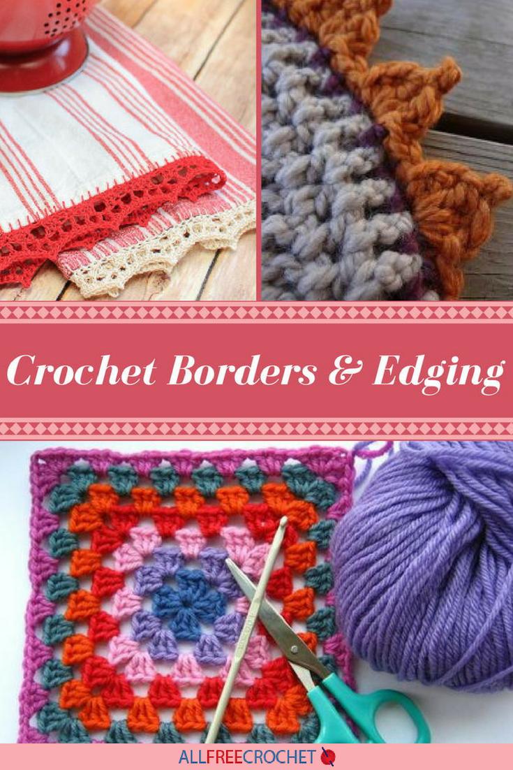 Crochet edge trim. Schemes, ideas for inspiration 41