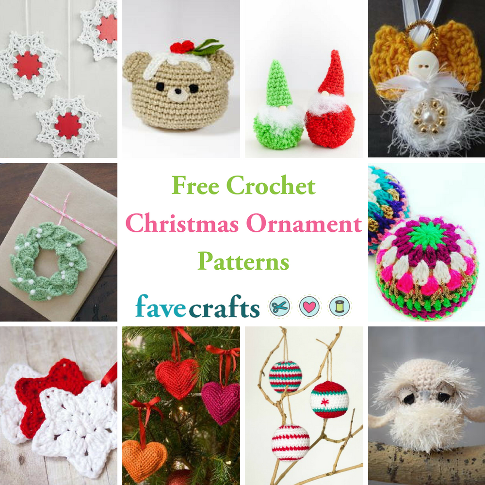 41 Free Crochet Christmas Ornament Patterns | FaveCrafts.com