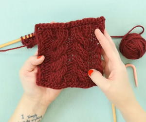 How to Knit the Twisted Cable Stitch