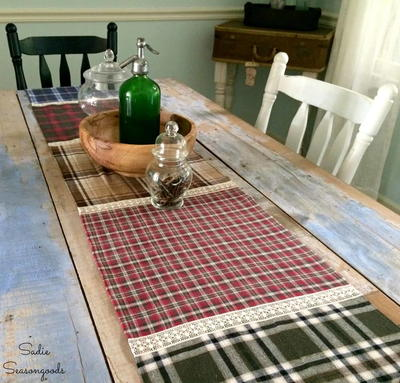 Fall Flannel DIY Table Runner