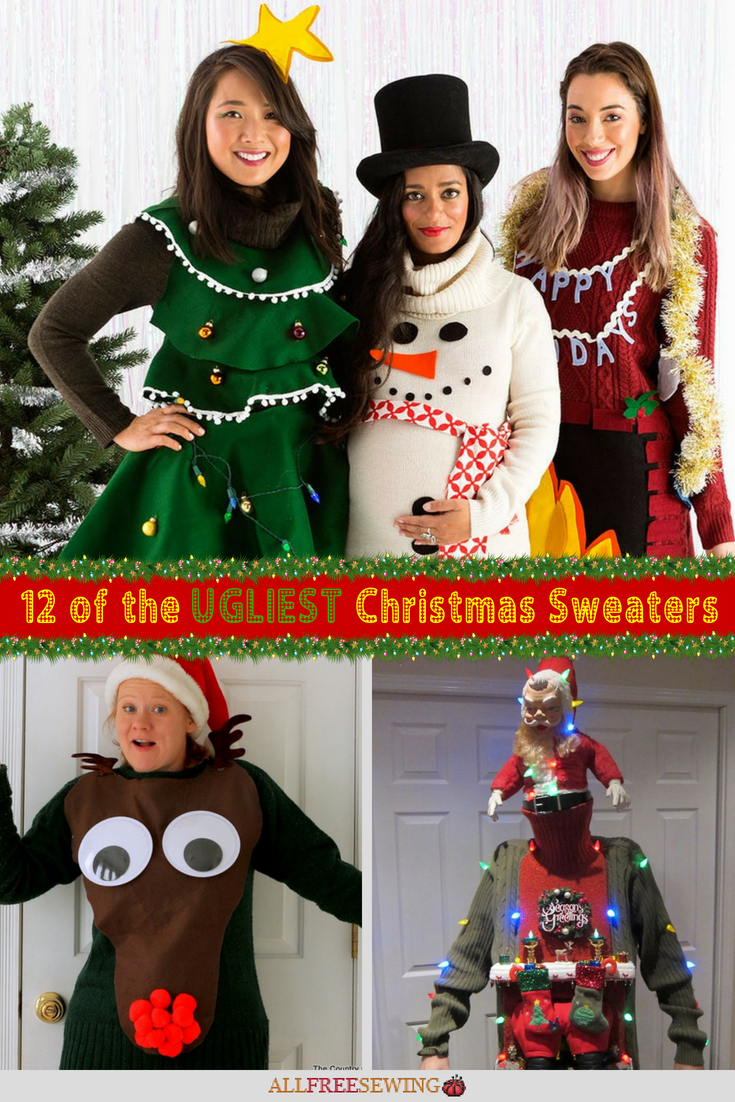 12 of the Ugliest Christmas Sweaters (+ Free Patterns to Make Your ...