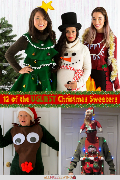 12 of the Ugliest Christmas Sweaters  Free Patterns to Make Your Own