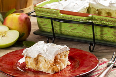 Apple Cinnamon Poke Cake