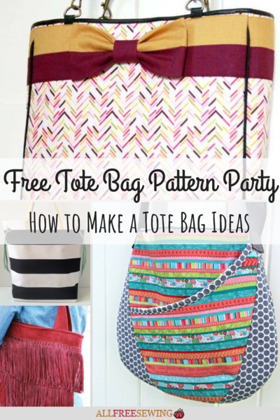Free Tote Bag Pattern Party 18 How to Make a Tote Bag Ideas