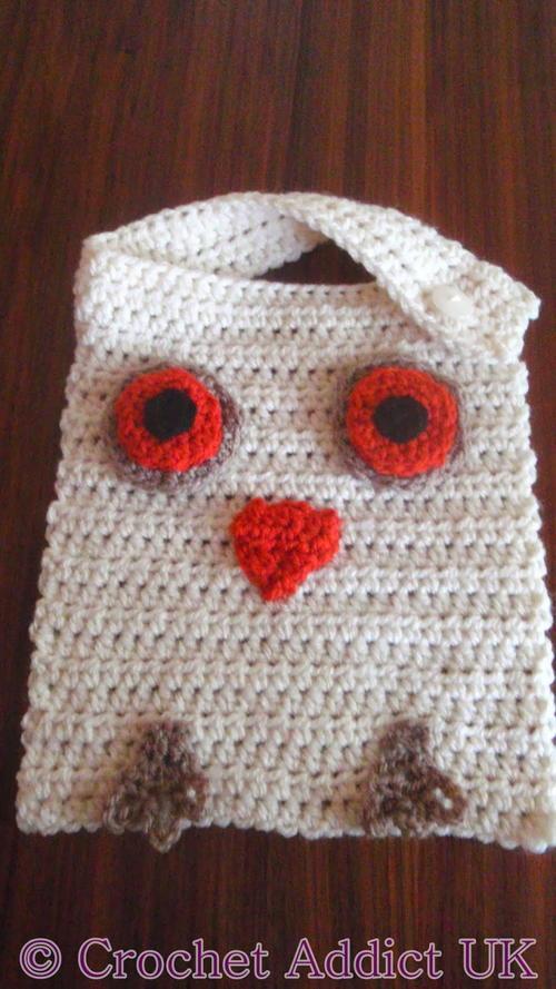 Wise Owl Baby Bib Allfreecrochet