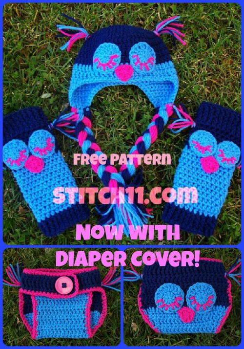 Baby Owl Leg Warmers And Hat Set Allfreecrochet