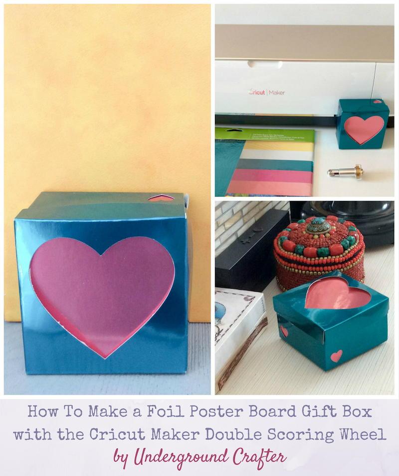 foil poster board heart box favecrafts com