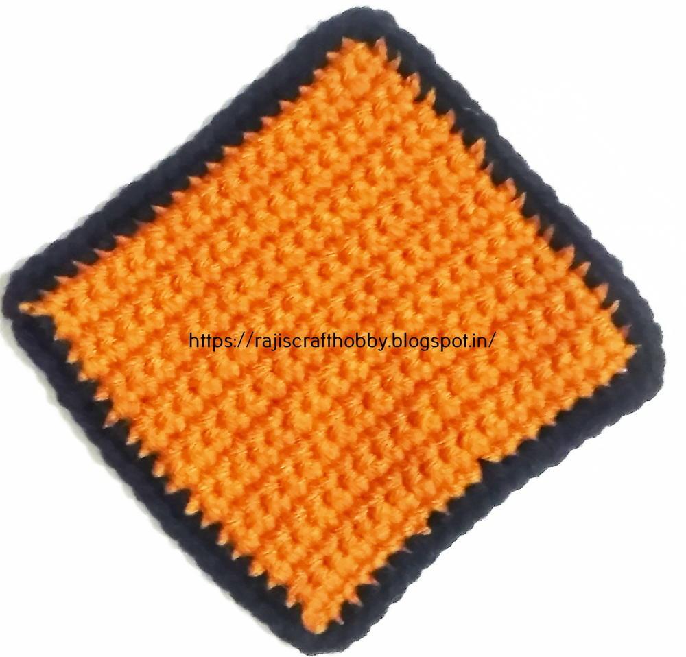 Single Crochet Square Coaster