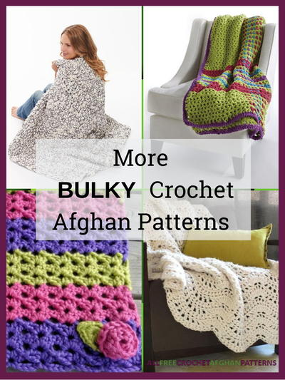 More Bulky Crochet Afghan Patterns