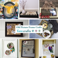 8 Old Picture Frame Crafts