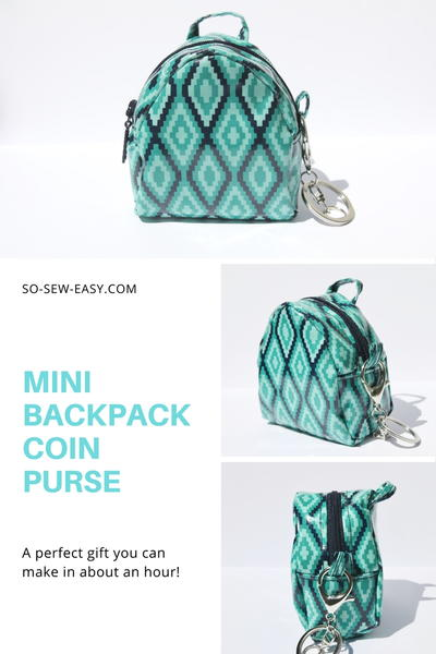 Mini Backpack Coin Purse Pattern Allfreesewing