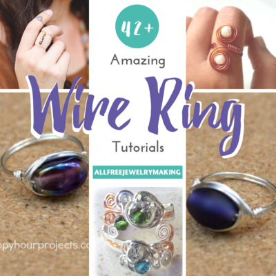 42+ Amazing Wire Ring Tutorials | AllFreeJewelryMaking.com