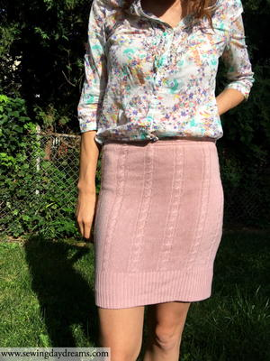 Upcycled Sweater Skirt