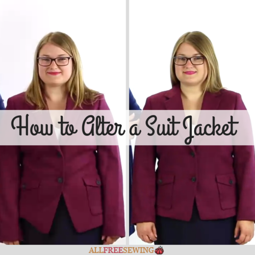 How to Alter a Suit Jacket Sewing Video Lessons