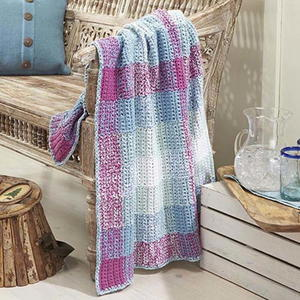 Pretty Picnic Crochet Throw