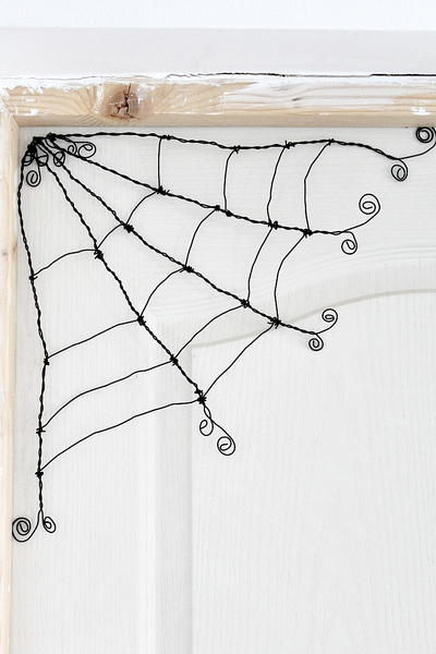 Spooky DIY Wire Spider Web