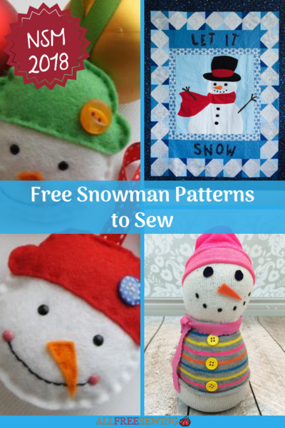 15 Free Snowman Patterns To Sew Allfreesewing