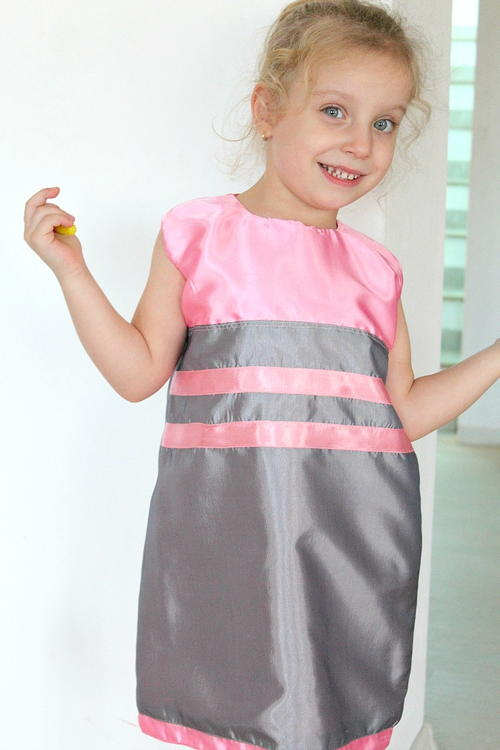 A Line Dress Pattern for Girls