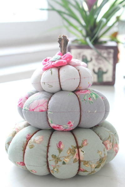 Fall Trio Pumpkin Pincushion