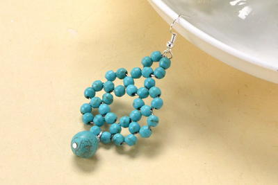 Beaded Turquoise Statement Earrings