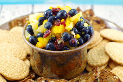 Peach Pineapple Fruit Salsa