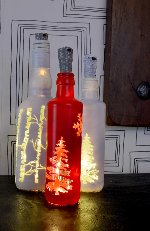 Christmas Glass Bottle Lights
