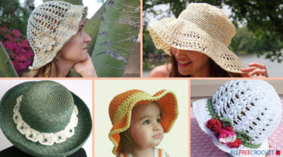 41 Crochet Summer Hat Patterns: Easy Crochet Hats