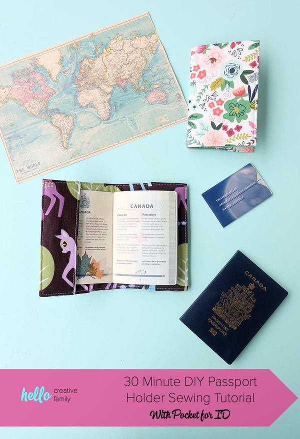 Easy DIY Passport Holder