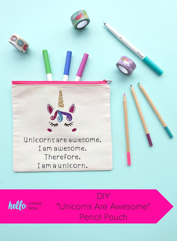 Unicorns Are Awesome Pencil Pouch