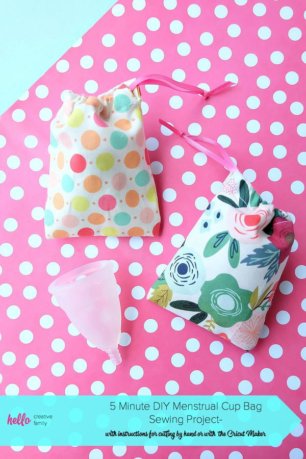 DIY Menstrual Cup Bag