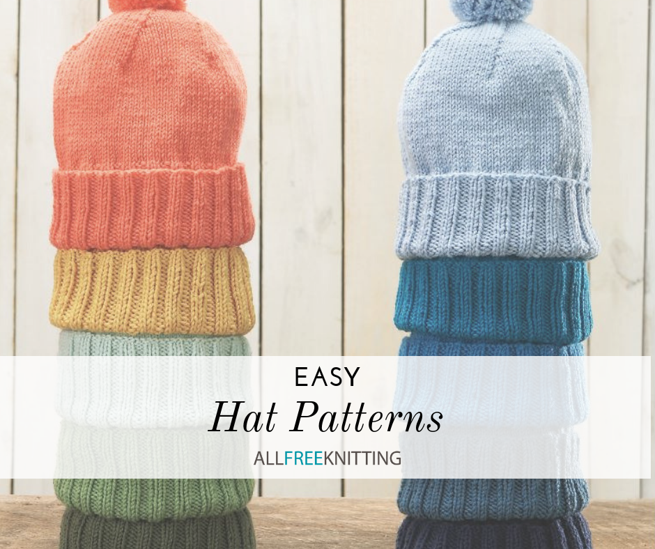 19 Easy Hat Knitting Patterns | AllFreeKnitting.com