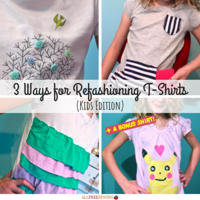3 Ways for Refashioning T-Shirts Kids Edition
