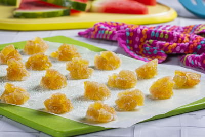 Lemon Laced Watermelon Rind Candy